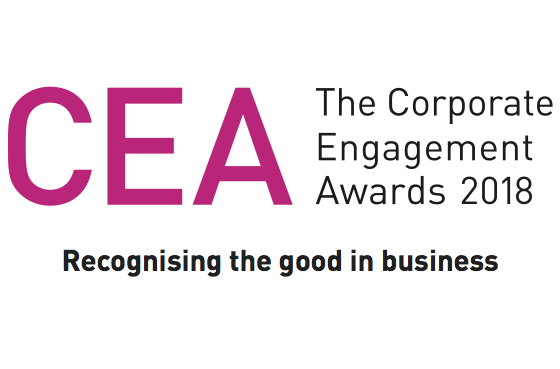 Corporate Engagement Awards 2018 logo for Simplyhealth winning best Corporate Social Responsibility activity to support or develop corporate reputation for our work supporting the Teeth Team