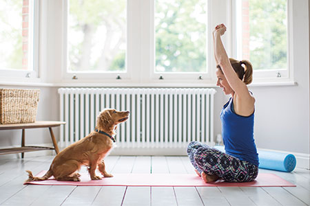 dog-yoga-woman