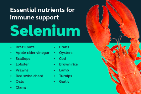A list of foods that contain selenium - like brazil nuts and fish