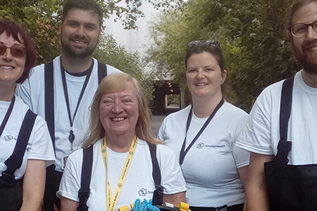 Simplyhealth's colleagues take part in a local river clean