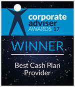 Corporate Adviser Awards 2017 logo for Simplyhealth winning Best Cash Plan Provider