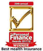 Personal Finance Awards 2017 logo for Simplyhealth winning Best Health Insurance Provider