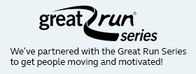 We¿ve partnered with the Great Run Series to get people moving and motivated!