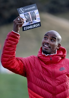 Mo Farah in Edinburgh 2017