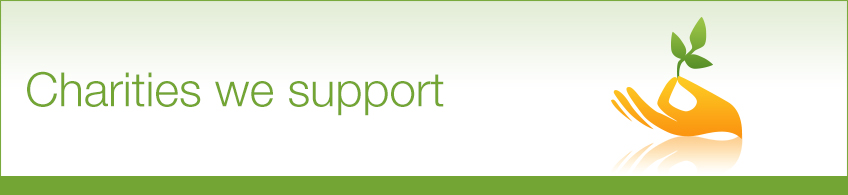 charitable giving - charities we support banner