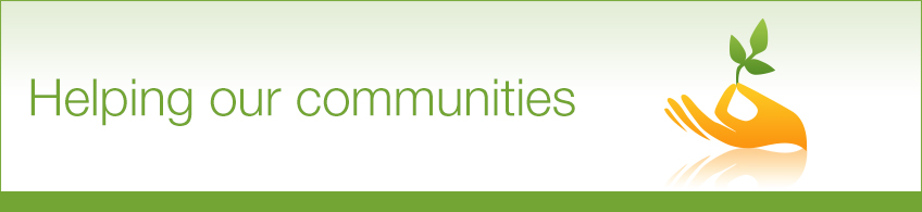 charitable giving - supporting our communities banner