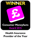 Consumer Moneyfacts Award 2015 - Health Insurance Provider of the Year
